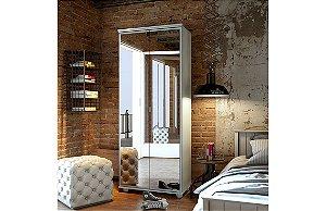 Sapateira/ Multiuso Melissa Espelho Branco Acetinado