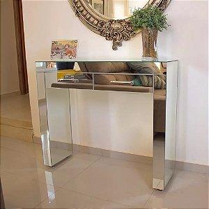 Aparador Espelho Lapidado - 90x30x85 - 2 Gavetas