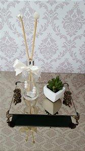 Bandeja Espelhada Lavabo - Espelho Bronze