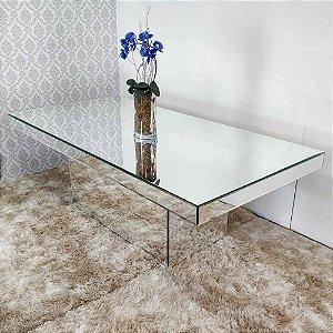 Mesa de Jantar Espelhada com bisotê 200x100
