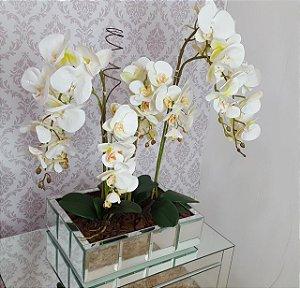 Centro De Mesa Orquídeas Brancas