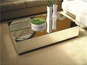 Mesa de Centro Espelhada Retangular 80x50 cm