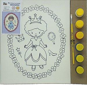 Tela de Pintura 25 x 30cm - Princesa