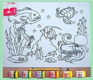 Tela de Pintura G - Fundo do Mar 2