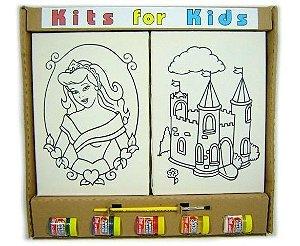Tela de Pintura - Kit 2 telas Princesa - Castelo