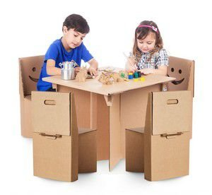 Kit Cantinho (1 mesa + 4 cadeiras sorriso)