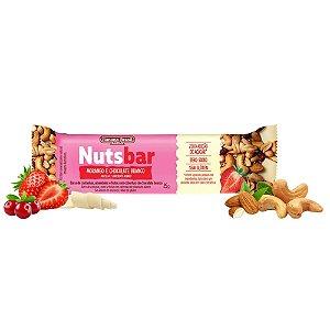 BARRA DE CEREAL NUTS BAR MORANGO E CHOCOLATE BRANCO 25G BANANA BRASIL