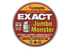 CHUMBINHO JUMBO EXACT MONSTER 5,5 MM (200UN) JSB ROSSI LIQUIDAÇÃO