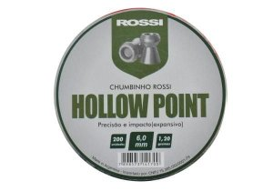 CHUMBINHO HOLLOW POINT 6,0MM (200 UN) ROSSI i