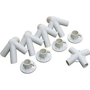 CONEXOES PLASTICAS P/ GAZEBO NAUTIKA