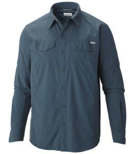 CAMISA M/L SILVER RIDGE  EVERBLUE G AM7453 COLUMBIA