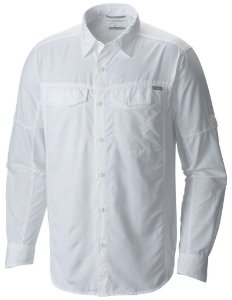 CAMISA M/L SILVER RIDGE  BRANCO M AM7453 COLUMBIA