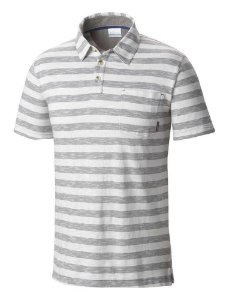 POLO MASCULINA LOOKOUT POINT GREY ASH AM6271-021 COLUMBIA