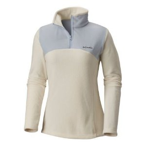BLUSÃO FLEECE WESTERN RIDGE HALF ZIP LIGHT BISQUE CIRRUS FEMININO AL0493 COLUMBIA