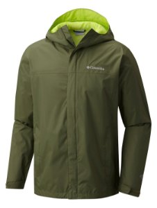 JAQUETA CORTA VENTO WATER TIGHT VERDE GRAVEL MASCULINO RM2433 COLUMBIA