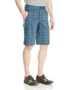 BERMUDA COOL CREEK STRETCH PLAID SHORT  EVERBLUE PLAID M AM4083 COLUMBIA
