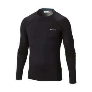 BLUSA 2A PELE MIDWEIGHT STRETCH LONG SLEEVE TOP PRETO MASCULINO AM6323 COLUMBIA