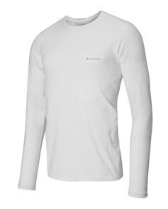 BLUSA 2A PELE MIDWEIGHT STRETCH LONG SLEEVE TOP BRANCO MASCULINO AM6323 COLUMBIA