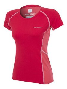 CAMISETA FREEZE DEGREE III MANGA CURTA RED CAMELLIA FEMININO AL6580 COLUMBIA