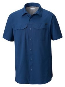 CAMISA MANGA CURTA SILVER RIDGE LITE CARBON AM1567 COLUMBIA