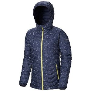 JAQUETA COM CAPUZ POWDER LITE HOODED NOCTURNAL RAIN DOTS FEMININO WK1499 COLUMBIA