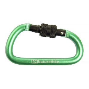 MOSQUETÃO MINI CHAVEIRO SCREW 8CM VERDE NATUREHIKE