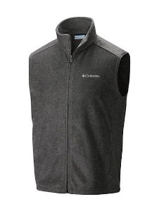COLETE FLEECE STEENS MOUNTAIN VEST CHARCOAL HEATHER MASCULINO AM1535 030 COLUMBIA