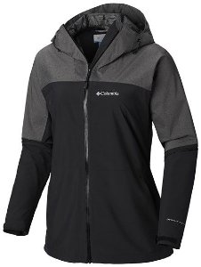 JAQUETA EVOLUTION VALLEY II BLACK CHARCOAL HEAT FEMININO RK0079 010 COLUMBIA