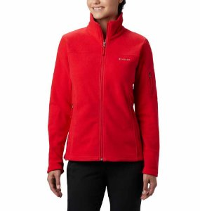 JAQUETA FLEECE FAST TREK II FULL ZIP RED LILY FEMININO EL6081658 COLUMBIA