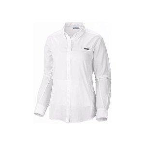 CAMISA MANGA LONGA SILVER RIDGE WHITE FEMININO XL1279 100 COLUMBIA