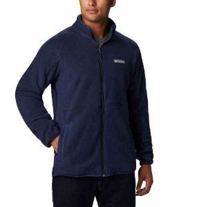 JAQUETA FLEECE BASIN TRAIL FULL ZIP COLLEGIATE NAVY MASCULINO AM0233464 COLUMBIA