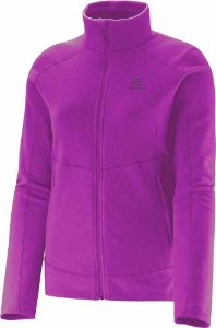 JAQUETA FLEECE FULL ZIP POLAR FLUO ROXO FEMININO S31183 SALOMON