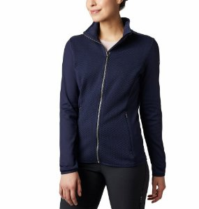 JAQUETA FLEECE FULL ZIP ROFFE RIDGE DARK NOCTURNAL FEMININO EL1020472 COLUMBIA