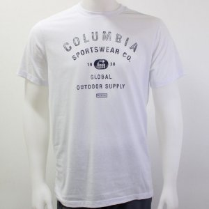 CAMISETA MANGA CURTA CSC SIMPLE BADGE BRANCO MASCULINO 320445100 COLUMBIA