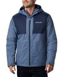 JAQUETA CORTA VENTO WATERPROOF STRAIGHT LINE INSULATED MOUNTAIN COLLEGIATE NAVY MASCULINO WM1287441 COLUMBIA