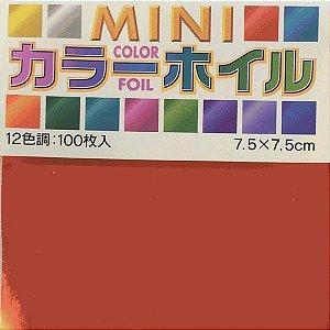 Papel P/ Origami 7,5x7,5cm  Face Única Metalizada 12 Cores 08009 (100fls)