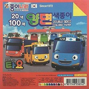 Papel P/ Origami 15x15cm Dupla Face Lisa 10 Combinações AA80Y104/AEN00051 (100fls)