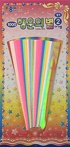 Papel p/ Origami 15x0,8cm Lucky Star 2 DD10K4 (138fls)