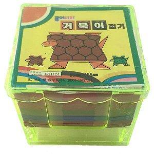 Papel P/ Origami 5,5x5,5cm EG11D1 Tartaruga (220fls)