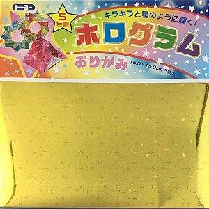 Papel P/ Origami 15x15cm Hologram Origami (5fls)