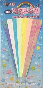 Papel p/ Origami 15X0,8cm 7 Cores Rainbow Star Folding DD04K2 (56fls)