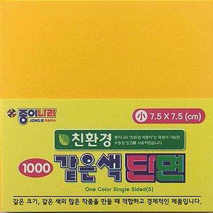 Papel P/ Origami 7,5x7,5cm Liso Face Única AC21D5-03 Amarelo Escuro (80fls)