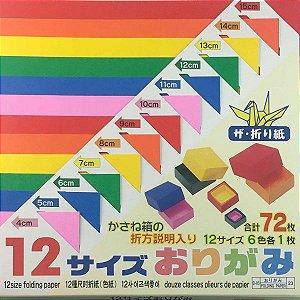 Papel P/ Origami 12 Tamanhos D-83 23 (72fls)