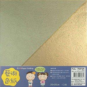 Papel p/ Origami 20x20cm Dupla-Face EPG-33 (10fls)