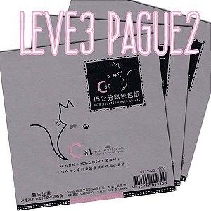 Papel P/ Origami 15x15cm Perolizada Face única 3871023 (10fls/pacote) LEVE 3 PAGUE 2