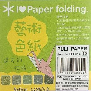 Papel p/ Origami 5x5 Dupla-Face Única EPP014 (40fls)