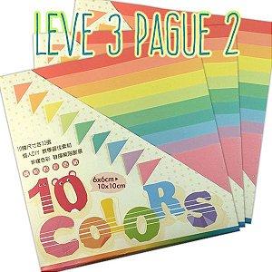 Papel P/ Origami 10 Tamanhos Tons Pastéis GT4003 (100fls) - Leve 3 Pague 2