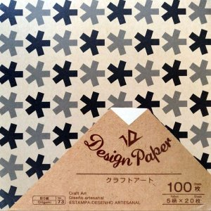 Papel de Origami 15x15cm Dupla Face Estampada Design Paper Craft Art (100fls) Daiso