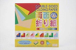 Papel P/ Origami 15x15cm D-045 C-3 (45fls)