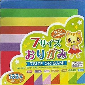 Papel P/ Origami 7 Tamanhos 19 Cores D-045 (133fls)